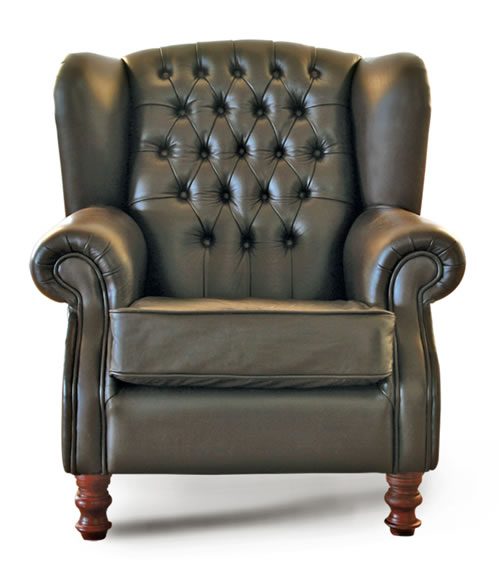 Full Leather Wingback Chair