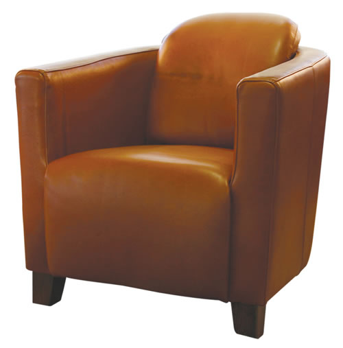 Full Leather Tub Chair