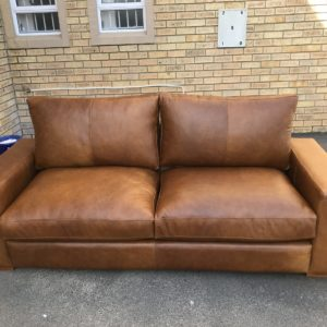 Full Leather Couch 1.8m Pista Pecan Namibian Leather